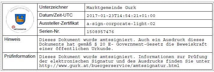 Amtssignatur - Marktgemeinde Gurk